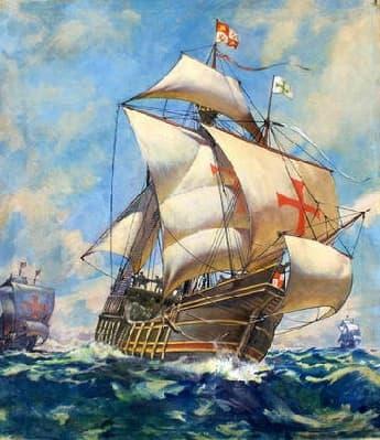 Christopher Columbus's flag ship the Santa-Maria